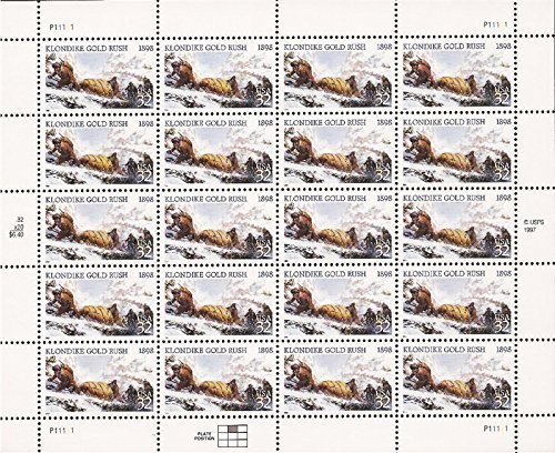 klondike-gold-rush-sheet-of-twenty-32-cent-stamps-scott-3235-by-usps