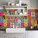 10 Pieces 20x20 cm - PS00178 Adhesivo Decorativo para Azulejos para baño y Cocina Stickers Azulejos - Made in Italy - Stickers Design