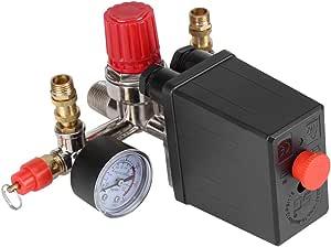 90 120 Psi Luftkompressor Druckregelschalter Ventilregler Mit Doppelmessgeräten Baumarkt