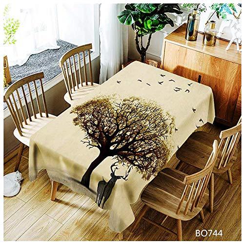 QWEASDZX Polyester Tischdecke Digitaldruck Einfache und Moderne dekorative Tischdecke Ölbeständiges Antifouling Rechteckige Tischdecke Geeignet für den Innen- und Außenbereich 100x140cm