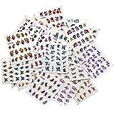 Bluelans® 50 Blatt Nagel Kunst Aufkleber, Blume Nagelaufkleber / Nagelsticker / Nail Tattoo / Nail Sticker / Nailart Tips-Dekorationen