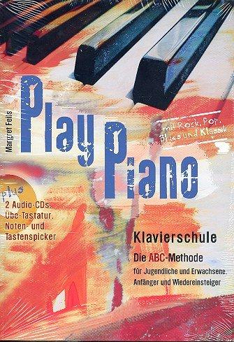 vierschule (+2 CDs) mit Bleistift für Jugendliche und Erwachsene, Anfänger und Wiedereinsteiger mit über 100 Spielstücken aus Rock, Pop, Blues und Klassik - inkl. Übe-Tastatur, Noten- und Tastenspicker (Noten/sheet music) ()