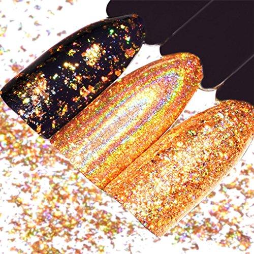 LCLrute Spiegel Nagellack Überzug Gold Paste Metall Farbe Gel Edelstahl DIY (Gold)