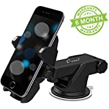 Owme Car Mount Adjustable Car Phone Holder Universal Long Arm, Windshield for Smartphones - Black