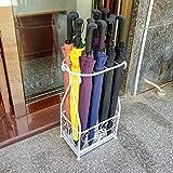 WSWJJXB Porta-gocciolatoio in Metallo con Gancio portaombrelli e portaombrelli (Colore : Bianca)