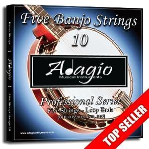 2 SETS! Adagio Professional 5-String Banjo Strings