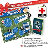 ZÄPFCHEN® Geschenk-Set: 2 - Die Liga-Apotheke für HSV-Fans | Für Fans von Hamburger SV Trikots, Home Away Stutzen Shorts Hoodie