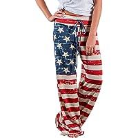 Pantaloni Larghi Donna Vita Alta Baggy Hip Hop Harem Danza Trousers Stampa Floreale Tuta Jumpsuit Boho Hippie Chic…