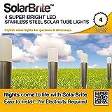 Solar Brite ™ Deluxe, 4 sehr helle LED-Lichter, Solar, Edelstahl