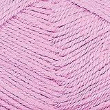 Grundl Lisa Strickgarn Schulgarn Strick-Wolle Bastelgarn 100% Acryl - Farbe- 01 weiß (31- dunkelrosa)
