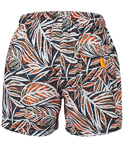Skiny Herren Badeshorts Beachbar Shorts orange tropic
