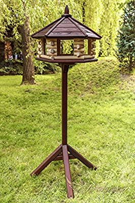 Brand NEW Exclusive Large Wooden Bird Table House, Feeder&House With STAND from krakwood