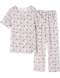7c7c60cfbb6 Ellse Pijamas De Algodón De Verano De Algodón De Los Hombres Pantalones De  Manga Corta De