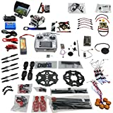 Qwinout Full Combo Set Unassembly DIY 6-Axle 2.4G 10ch RC Hexacopter Drone ARF: Tarot 680PRO Frame + APM 2.8 Flight Control GPS + AT10 Transmitter Receiver + FPV System + 2-Axis Gopro Gimbal