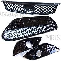 Kit completo griglie paraurti anteriore, a nido d'ape, per Focus RS, colore: nero
