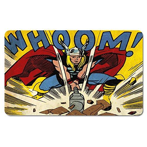 DC Universe Marvel - Tovaglietta colazione in stile retro, motivo: eroi Marvel, Thor Whoom