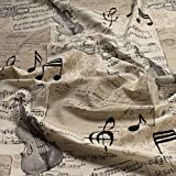 Stoff Baumwolle Polyester Geige Trompete Noten