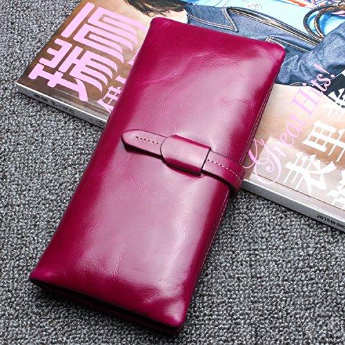 Die Erste Schicht Der Langhaarigen Brieftasche Brieftasche Großen Brieftasche Brieftasche Tasche Geldbörse Lila