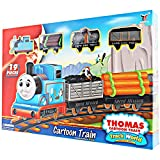 RIANZ Thomas and Friends Cartoon toy train track set with sound for Kids (19 PCS)