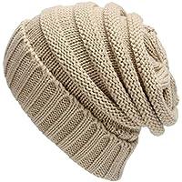 Eizur Donne Lavorato a Maglia Cappello Tessono Inverno Caldo Berretto di Lana Beanie Hat Baggy Crochet Cap Slouch Cuffia -