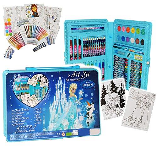 71 tlg. Set __ Stifte-Koffer - ' Disney die Eiskönigin - Frozen ' - Malkoffer mit Stiften + Öl...