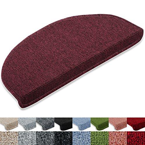 Stufenmatten Rambo-Star 15er SparSet 11 Farben sauber eingekettelt, starke Befestigung, stabile Winkelschiene (Weinrot)