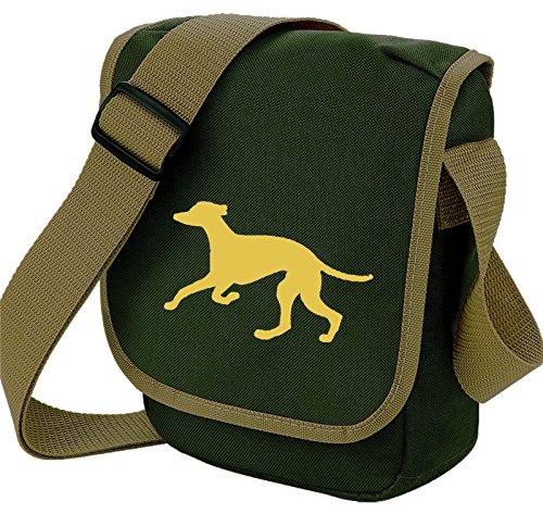 Bag Pixie ,  Unisex Erwachsene Umhängetaschen Fawn Hound Olive Bag