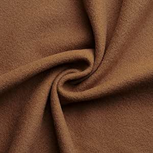 Hannah - tessuto in lana italiano - pesante & morbido - stoffa/tessuto al metro (caramello)