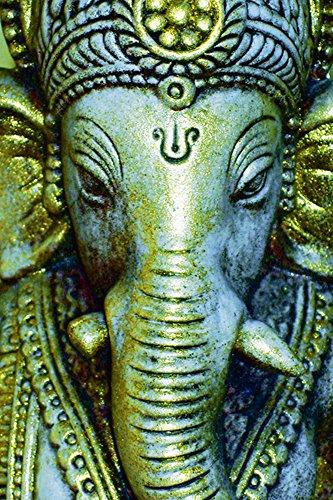 Artland Qualitätsbilder I Poster Kunstdruck Bilder 40 x 60 cm Fantasy Mythologie Religion Hinduismus Mixed Media Türkis C3PT Ganesha