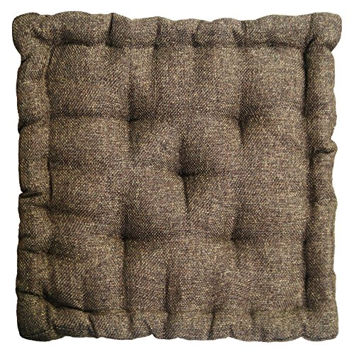Story@Home Stylish Square Car Sofa Office Seat Chair, Cozy Cushion Pad 1 PC Jute Chair Pad 15 inch X 15 Inch- Wood Brown  available at amazon for Rs.399