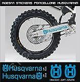 Aufkleber stickers HUSQVARNA Fahrradgabel moto decal bike-Motorrad- Cod. 0647 (Blu Leggero cod. 053)