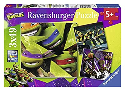 Tortugas Ninja - Puzzle, 3 x 49 piezas (Ravensburger 09328 1) por Ravensburger