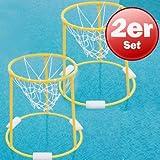 Agility Aqua-Basketballkorb Ø 50cm schwimmend Wasserspiel Ballsport gelb
