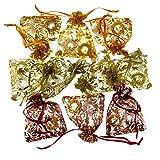 10 x 2er Fingermassageringe Akupressur Energie-Ring Massageringe Gold & Silber