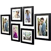 Art Street -Photo Frame Set Black Chief 6 Pcs (Photo Size 8x10 Inches - 2 Units, 6x8 inches 4 Units. (Free Hanging…