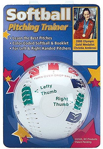 Softball Pitcher Grip Trainer from Olympic Gold Medialist Christie Ambrosis (Easy Color Coded Finger Placement) by Authentic Softball