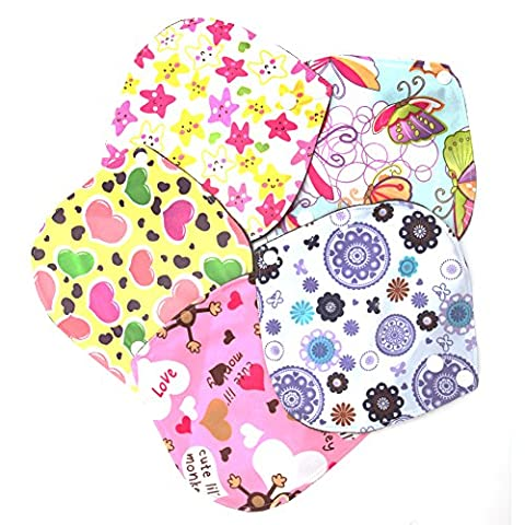 Dairyshop Reusable Washable Bamboo Cloth Menstrual Sanitary Maternity Pads 6*6 Inch