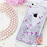 KC Liquid 3D Crystal Bling Glitter Star Hard Transparent Back Cover for iPhone