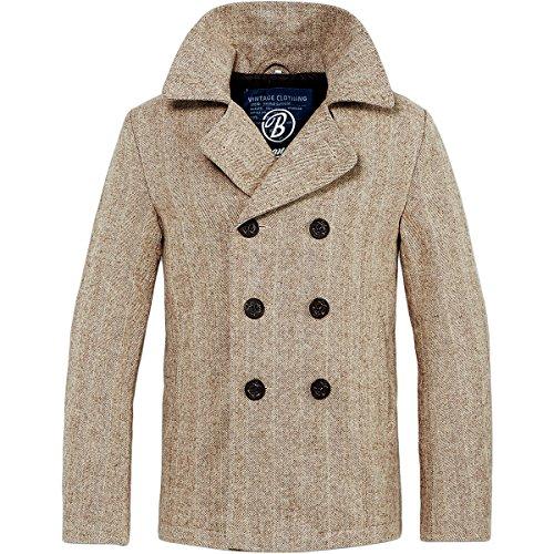 Brandit Pea Coat Jacke XXL Beige (Pea-jacke)