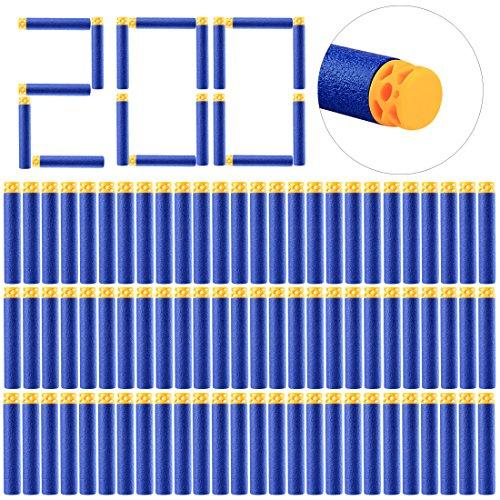 rf Zubehör, WEIZQ 200er Refill Bullets Darts Ergänzungsmunition für Nerf N-Strike Elite Disruptor ()