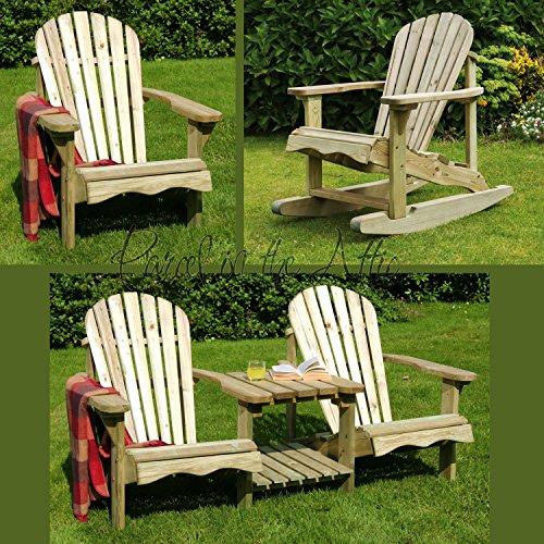 Murcia Solid Wood Outdoor Adirondack Chair Garden Patio