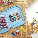 Matita di colorazione, 48schede multi-funzionale grande capacità sacchetto penne di peluche, forma Wrap case, acquerello matita Wrap Eloki portapenne organizer (blu)