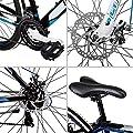 Bergsteiger Canberra 26 Zoll Mountainbike, geeignet ab 160 cm, Scheibenbremsen, Shimano 21 Gang-Schaltung, Gabel-Federung, Jungen-Fahrrad & Herren-Fahrrad