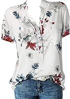 Camisa de Manga Corta de Botón de Mujer,Tallas Grandes Camisetas Mujer Manga Corta Camisas Mujer Verano Elegantes...