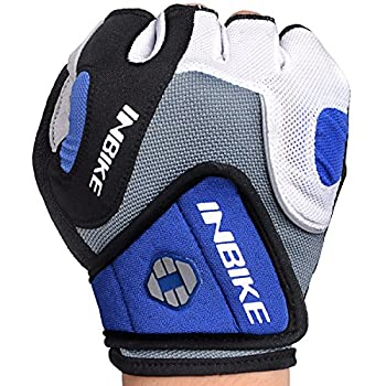 Inbike 5mm Gel Padded Half Finger Cycling Gloves Bike Bicycle Gloves For Biking(blue,m) 8