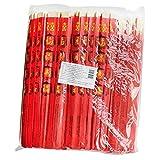 100 Paar Einweg Essstäbchen in roter Papierhülle