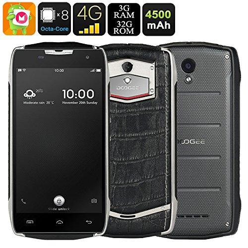 Doogee T5 - Businessport teléfono IP67 con estilo dual, 13 MP (PDAF) 3 GB de RAM 32 GB ROM impermeable a prueba de polvo textura del cocodrilo 4500mA batería de carga rápida