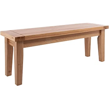Beau Camberley Oak Dining Bench With Light Oak Finish 94cm Long | Solid Wooden  Seat For Dining