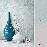 NEWROOM Barocktapete Grün Vliestapete Deco Muster Barok schöne moderne und edle Design Optik , inklusive Tapezier Ratgeber