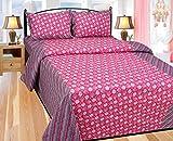 Elegance Floral Cotton Double Bedsheet W...